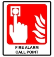 Fire alarm call point symbol Emergency vector image