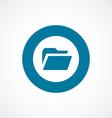 folder bold blue border circle icon vector image vector image