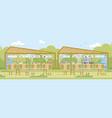 food fair local farmers production market stalls vector image vector image