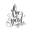 free spirit - black and white hand lettering text vector image vector image