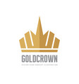 gold crown - logo template concept vector image