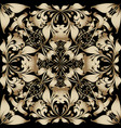 gold floral 3d russian style seamless pattern vector image vector image