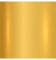 Gold metallic background vector image vector image