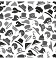 gray hats icons set seamless pattern eps10 vector image vector image
