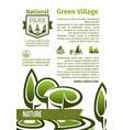 green parks landscape design poster vector image vector image