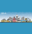 helsinki finland city skyline with color vector image vector image