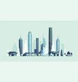 hong kong skyline republic china city vector image