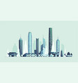hong kong skyline republic of china city vector image