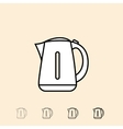 icon of electric kettle vector image vector image