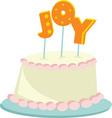 joy cake vector image vector image