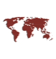 line red and black world map like digital noise vector image vector image