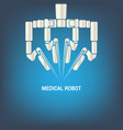 medical robot icon vector image