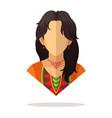mexican women avatar vector image vector image