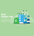 online pharmacy concept design template vector image