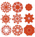 orange embroidery vector image vector image