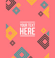pattern style abstract background design vector image