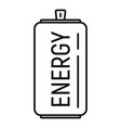 power energy drink icon outline style vector image vector image