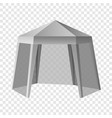 promotional outdoor tent mockup realistic style vector image