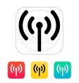Radio antenna sending signal icon vector image vector image