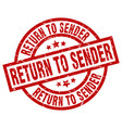 return to sender round red grunge stamp vector image