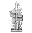 rotary valve vintage vector image vector image