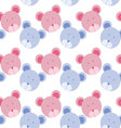 Seamless Background with bear Bear pattern vector image