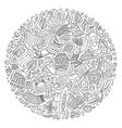 set beer cartoon doodle objects symbols vector image vector image