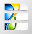 set header banner dynamic wave design vector image vector image