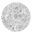 set of Beer cartoon doodle objects symbols vector image vector image
