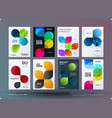 set of design brochure abstract annual report vector image