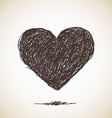 Sketch of heart vector image