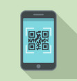 smartphone qr code icon flat style vector image vector image