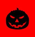 spooky pumpkin vector image vector image