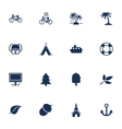 Tourism and leisure icons vector image