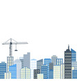 urban landscape city background grey and blue vector image