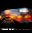 view from inside the car on the night city lights vector image vector image