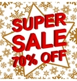 Winter sale poster with SUPER SALE 70 PERCENT OFF vector image vector image