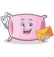 with envelope pillow character cartoon style vector image