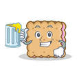 with juice biscuit character cartoon style vector image