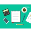 Work desk business office vector image vector image