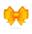 Yellow decorative bow emblem vector image vector image