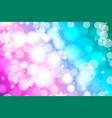 vivid bokeh in soft color background vector image