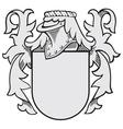 aristocratic emblem No34 vector image vector image