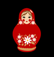 Babushka doll vector image