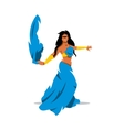 Belly dance girl in traditional dress vector image vector image
