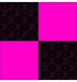 Black and pink vector image vector image