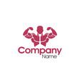 bodybuilding gym logo design vector image vector image
