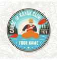 canoe and kayak club patch concept for vector image vector image