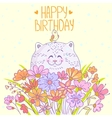 Cat Happy Birthday vector image vector image