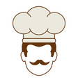 chef head avatar character vector image
